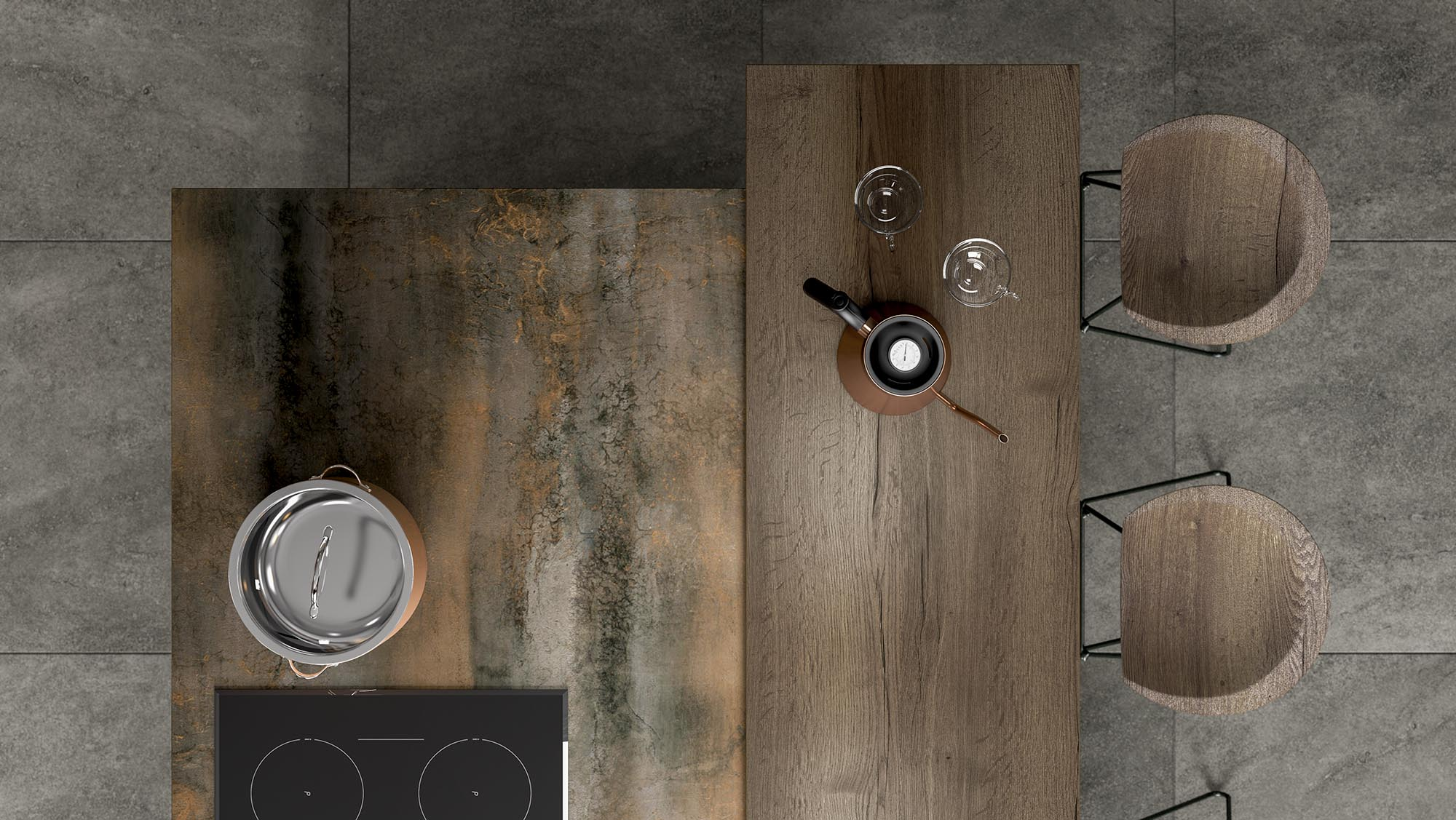 Multi Textured Kitchen Imagery 1